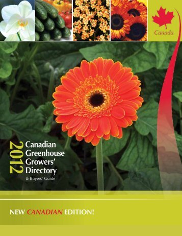 2012 Canadian Greenhouse Growers' Directory - Flowers Canada ...