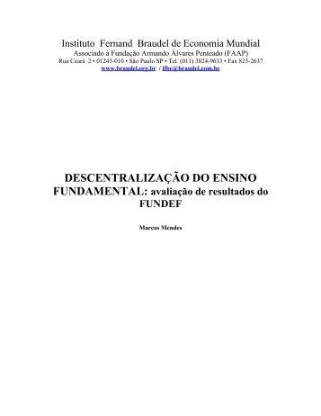DESCENTRALIZAÇÃO DO ENSINO FUNDAMENTAL