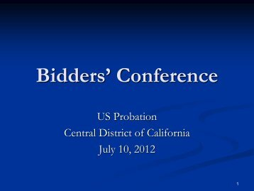 Bidders' Conference