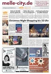 Christmas Night Shopping bis 22 Uhr - Melle City