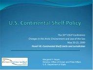 The U.S. Extended Continental Shelf (ECS)