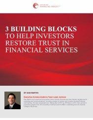 RESTORE TRUST IN FINANCIAL SERVICES
