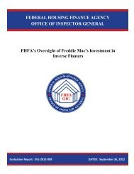 FHFA's Oversight of Freddie Mac's Investment in Inverse Floaters ...