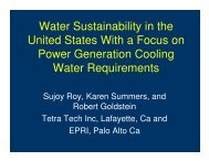 United States With a Focus on Power Generation Cooling Water Requirements