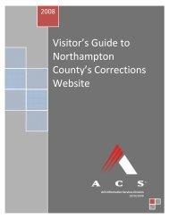 Northampton County's Corrections Website
