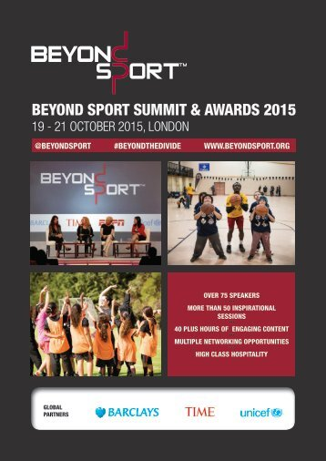 BEYOND SPORT SUMMIT & AWARDS 2015