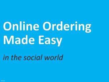 Online Ordering Made Easy