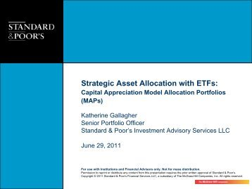 Strategic Asset Allocation with ETFs