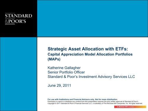 Strategic Asset Allocation with ETFs