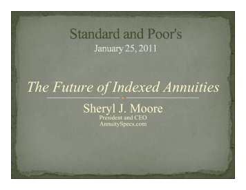 The Future of Indexed Annuities