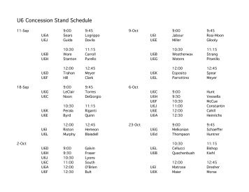 concession stand schedule template