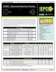 EPC8004 – Enhancement Mode Power Transistor