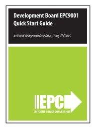 Development Board EPC9001 Quick Start Guide