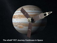 The eGaN FET Journey Continues in Space