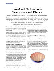 01/2013: Low Cost GaN e-mode Transistors and Diodes - EPC