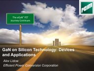 GaN on Silicon Technology Devices and Applications
