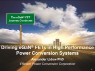Driving eGaN FETs in High Performance Power Conversion Systems