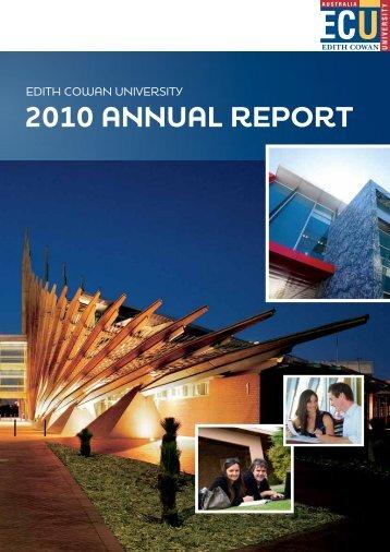 2010 annual report - Edith Cowan University