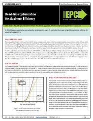 Dead-Time Optimization for Maximum Efficiency Current