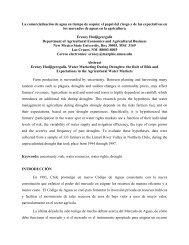 La comercialización de agua en tiempo de sequía: el papel del ...