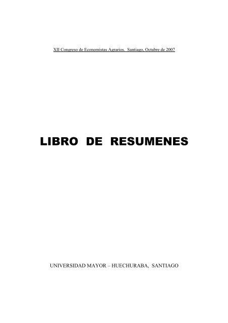 LIBRO DE RESUMENES