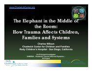 What is Trauma? - The Chadwick Center for Children & Families