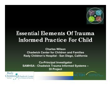 Essential Elements Of Trauma Informed Practice For Child