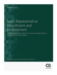 Sales Representative Recruitment and Development