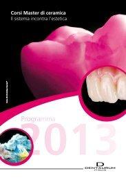 Scarica il programma dei Corsi Master di ceramica - Dentaurum Italia