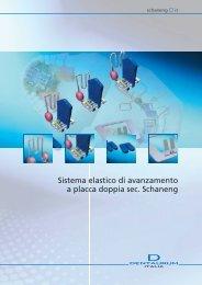 Sistema elastico di avanzamento a placca doppia sec Schaneng