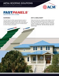 The Fast Panel line offers exposed fastened panels in multiple ...