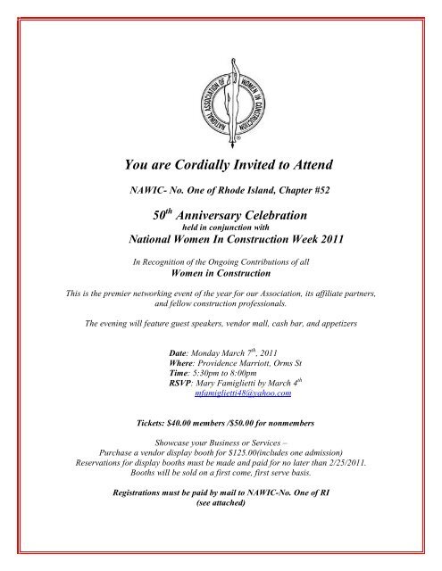 You are Cordially Invited to Attend