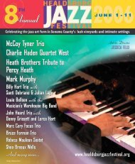 John Heard Trio - Healdsburg Jazz Festival