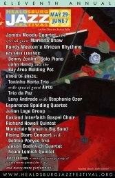 with special guest - Healdsburg Jazz Festival