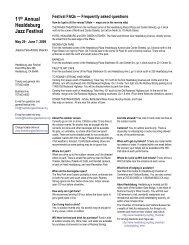 11 Annual Healdsburg Jazz Festival