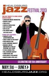 complete ticket brochure - Healdsburg Jazz Festival