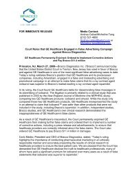 FOR IMMEDIATE RELEASE Media Contact: Andrea Calise ...