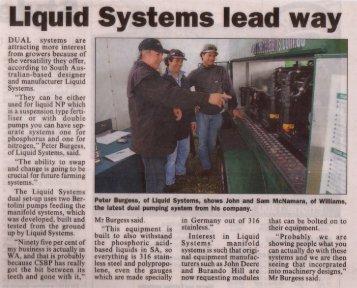 Liquid systems