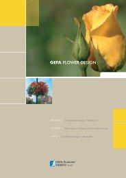 GEFA FLOWER DESIGN - GEFA Produkte Fabritz GmbH