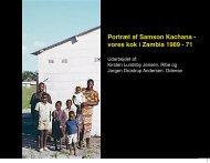 Portræt af Samson Kachana - vores kok i Zambia 1969 - 71