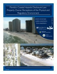 Florida's Coastal Hazards Disclosure Law ... - Florida Sea Grant
