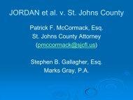 JORDAN et al v St Johns County