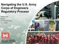 Corps of Engineers Regulatory Process