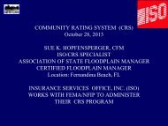 Introduction to the NFIP's Community Rating ... - Florida Sea Grant