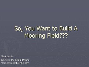 Mooring Field???