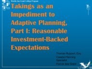 Reasonable Investment-Backed Expectations - Florida Sea Grant