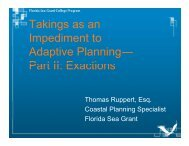 Takings as an Impediment to Adaptive Planning— Part II Exactions