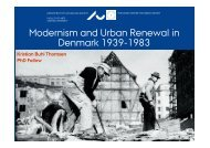 Modernism and Urban Renewal in Denmark 1939-1983