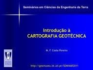 Introdução à CARTOGRAFIA GEOTÉCNICA