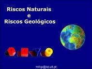 Riscos Naturais e Riscos Geológicos